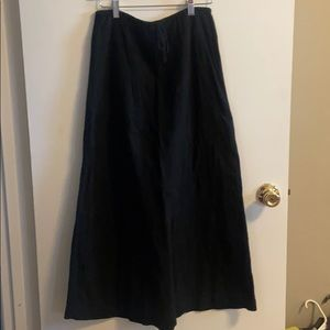 Black linen Banana Republic skirt